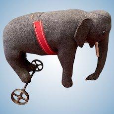 """Steiff Elephant Wheels """" Attic Found"""""""