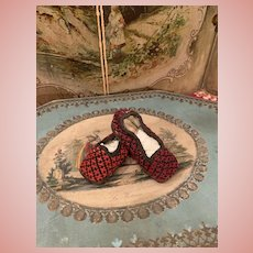 Early Needlework Slippers for Dolls