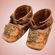 Early French Shoes for Bebe Dolls