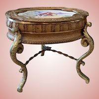 Old Viennese Bronze & Enamel Table