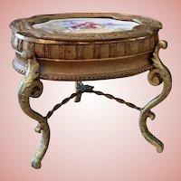 Old Viennese Bronze & Enamel Table