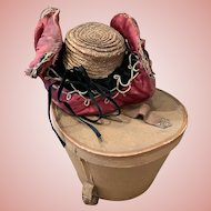 French Straw Hat with Box