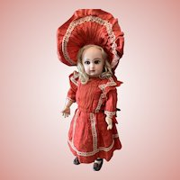 Adorable Bebe Jumeau with Wonderful original Outfit