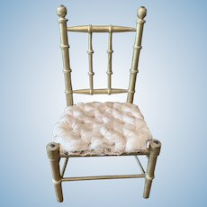 Classic French Golden Chair for Bebe