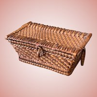 Fine Early Straw Basket for Dolls