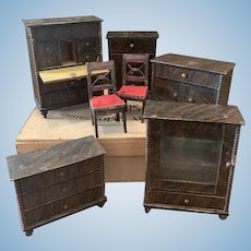 Early German Dollhouse Furniture Set bigger Scale
