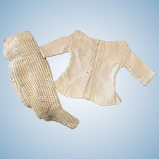 Lot of Early Undershirt and Pair of Lace Socks