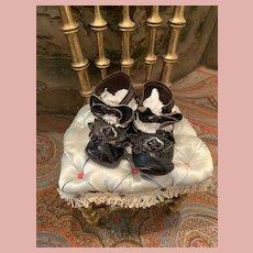 Black French Fashion Doll Shoes