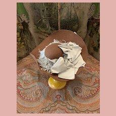 Beautiful  French Felt Doll Hat