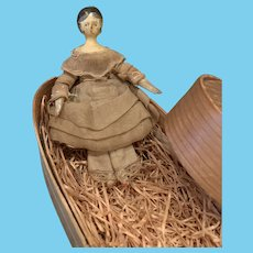 Early Wooden Groedner Doll in Box