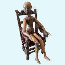 "Extremely Rare ""Bestellmeier"" Wooden Doll"