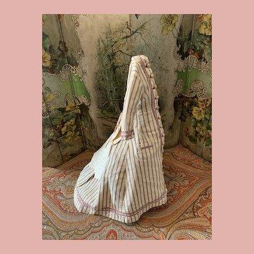 Old Original French Fashion Doll Day Dress