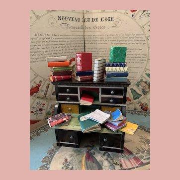 Lot of Dollhouse Miniatures Books