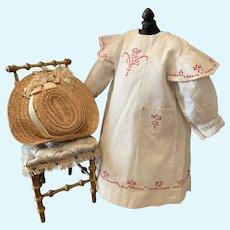 Wonderful two Piece Bebe Dress with Straw Hat