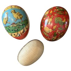 Lot of 3 Old Easter Eggs