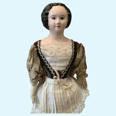 Early Paper Mache Doll