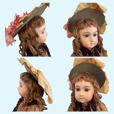 Pretty Original French Felt Doll Hat