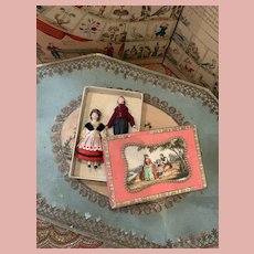 Two Early German Composition Dolls in Box