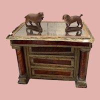 Two Early Groednertal  Wooden Miniature Dogs