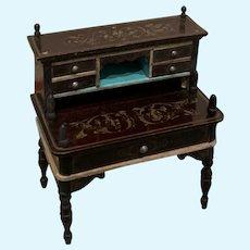Beautiful Boulle Dollhouse Desk