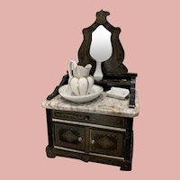 Antique Boulle Dollhouse Vanity Table