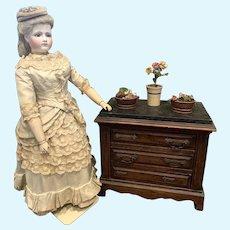 Antique French Doll Dresser