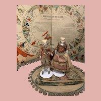 Early Parian Dollhouse Couple