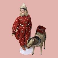 Rare Pfeiffer Clown Figure with Nodding Donkey