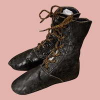 Early Black Leather Fashion Boots