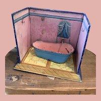 Small Early Tin Plate Bathroom by Staudt