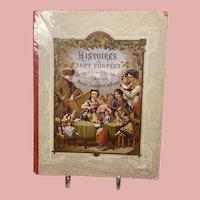 """Rare Antique French Children Book """"Histoires de Sept Poupees"""""""