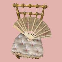 Little Antique Fan for Dolls
