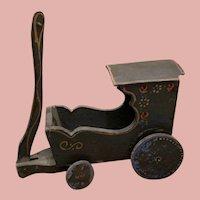 Wooden Oberammergauer Carriage for Dolls