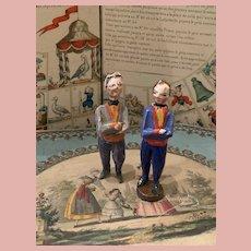 Two Groedner Wooden Gentleman