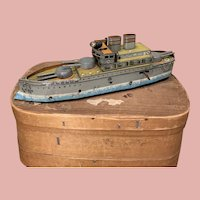 Rare Güntermann Tin Plate Ship Toy