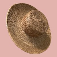Early Straw hat for Gentleman Dolls