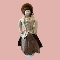 Early Paper Mache Head Doll Pauline Typ for the french Market