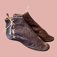 Early Pair of Doll Boots