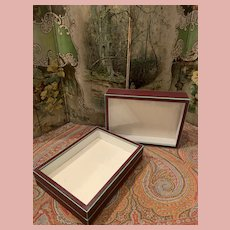 2 Early Glass Boxes