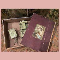 Metal Dollhouse Furniture in Box