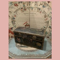 Early Wooden Trunk for Dolls