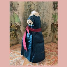Old Silk Dress for Early Dolls