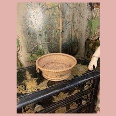 Fine Early Straw Basket for Dolls