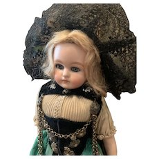 Original German Doll in Folklore Outfit