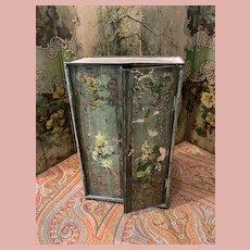 Tin Plate Box as Wardrobe for Dolls