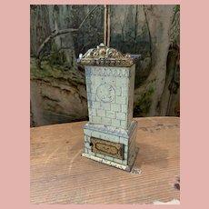 Little Tin Plate Tiled Stove for Dollhouses