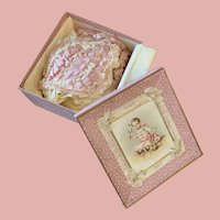 Very Pretty Antique French Bonnet in sweet Presentation Box