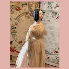 Early German Paper Mache Doll Milliners Doll