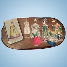 Early Small  Paper Doll Game in Box