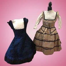 Two Early Original Fashion Doll Dresses